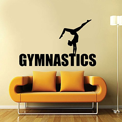 WWYJN Female Gymnast Jumping Wall Sticker Gymnastics Dancing Wall Decal Sports Decor  67x45cm - Honig Francisco San