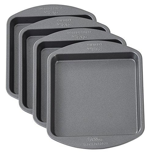 Wilton Easy Layers! Backformen-Set für Quadratische Schichtkuchen, 4-Teilig