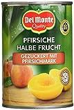 Del Monte Pfirsiche 1/2 Frucht in Fruchtmark, 12er Pack (12 x 420 g Dose)
