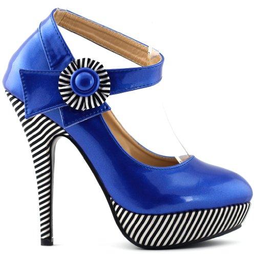 Show Story , Bride de cheville femme Bleu - Sapphire