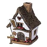 LeuchtKeramik, casetta originale Fit4Style, illuminata, in ceramica, lavorata a mano, decorazione, porta incenso