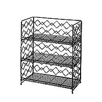 NEUN WELTEN Wide Wall Mount Spice Rack - Wire Free Stand Kitchen Shelf Organiser (3 Tier, Black)