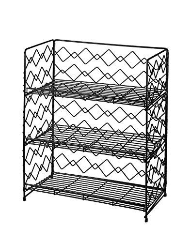 Gewürzregal Breites Küche Hängeregal oder Standregal 34 x 19 x 42cm(Schwarz, 3 Etagen)