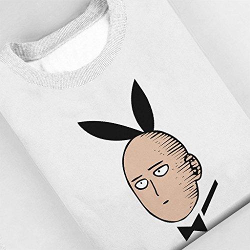 Saitama Playboy Bunny One Punch Man Womens Sweatshirt white