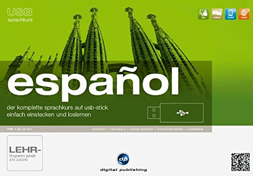 usb sprachkurs español: der komplette Sprachkurs auf usb-stick.einfach einstecken und loslernen / Paket