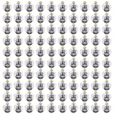 TUPARKA 100 Pezzi luci a Palloncino Mini Lanterne di Carta a LED luci Lampada a Sfera Gialla Calda per la Decorazione del Partito