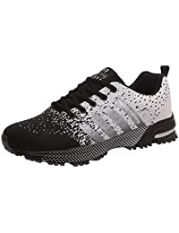 Zapatillas de Deporte Hombres Qimaoo Zapatos de Gimnasia para Caminar de Peso Ligero Zapatillas de Deporte Zapatos Deportivos para Hombre Athletic Cordones Air Cushion 3cm Running Sports Sneakers