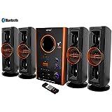Vemax Eiffel BLUETOOTH Hi Bass Surround Sound System & Tower Speakers With FM USB AUX MMC ( Black & Copper)