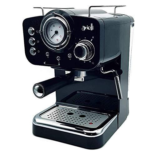 ARIELLI KM-501B Macchina Caffè Espresso Macinato/Cialde 2 Filtri per 1/2 tazze...