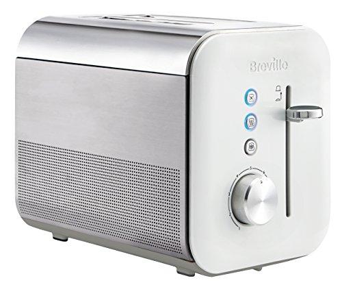 Breville Toaster senkrecht mit 2Schlitzen, Linea high gloss, lackiert und Stahl, Weiß