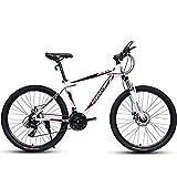 HECHEN Bicycle-Adult 21/24-fach Off-Road-Mountainbike, 24 Zoll, männliche und weibliche Speichenradschub-Studentenfahrrad,24in24speedwhite