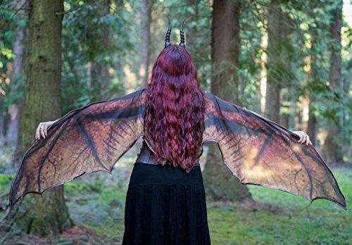 Alas de murcielago, capa dragon Halloween