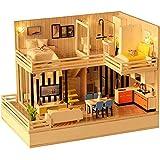 XIONGDA Casa delle Bambole in Legno 3D per Bambini con Luce a LED e Altoparlante Bluetooth Puzzle Fai da Te Modello di Edificio Fatto a Mano Giocattoli per Regali e Decorazioni per Ragazzi e Ragazze