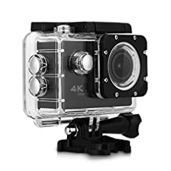 "Excelvan F68 Action Cam WiFi 4K 24FPS FHD 1080P 20MP Fotocamera 170° Grandangolare 2.0"" Schermo LCD Impermeabile Sports Camera Videocamera Digitale Cam Video Car DVR Visore Notturno"