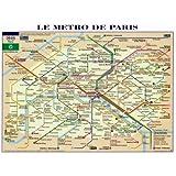 Reproduction d'art 'Le Métro de Paris', Taille: 80 x 60 cm