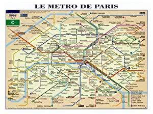 Reproduction d'art 'Le Métro de Paris', Taille: 80 x 60 cm