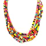 Les Trésors De Lily [L5266] - Designer halskette halskette 'Amazonia' tutti frutti.