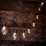 Auraglow 10Stück Solar LED Soffitte Laternen Lichterkette Lichterkette Retro Garten Lampen–Transparente Abdeckung