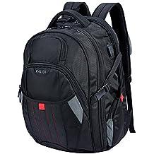 KALIDI 17,3 Zoll Laptop Rucksack Laptop-Tasche passen für bis zu 17,3 Zoll Gaming Laptops Notebooks Computers für Alienware 15 Terrans Force 911 M6600 Alienware 17(older version before 2015) MSI GS70 (Schwarz)