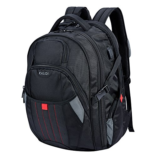KALIDI 17,3 Zoll Laptop Rucksack Laptop-Tasche passen für bis zu 17,3 Zoll Gaming Laptops Notebooks Computers für Alienware 15 Terrans Force 911 M6600 Alienware 17(older version before 2015) MSI GS70 (Schwarz)