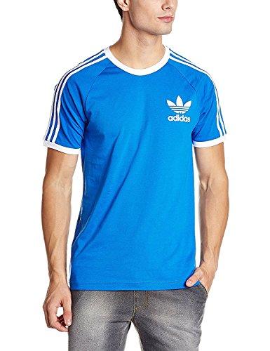 Adidas. maglietta california t shirt manica corta da uomo regular fit (m, blu)