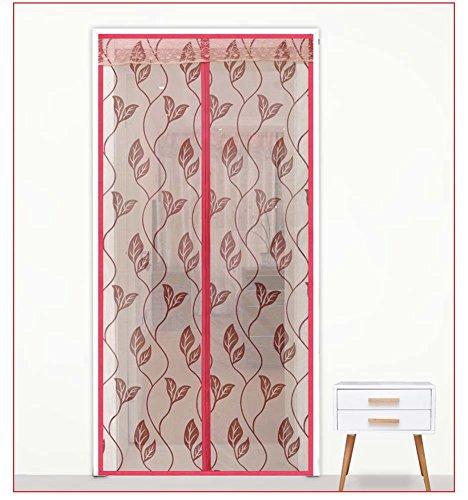 GAIHU Sala De Estar Dormitorio Silencioso Cifrado Magnético Cortina De Cifrado Pantalla Flocado,Red,85*195