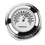 Unterbrechen 22/25MM Motorrad Lenker Halterung Zifferblatt Tem Thermometer für Harley (weiß), Farbe A, 45.00*45.00*30.00mm