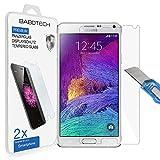 2 x Samsung Galaxy Note 4 - BABOTECH Ultra-Klar Panzerglas 9H Hartglas Kratzfest Schutzfolie Tempered Glass