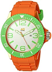 40Nine Mens 40NINE01/ORG1 Extra Large 50mm Analog Display Japanese Quartz Orange Watch