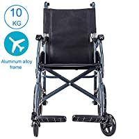 Transport Wheelchair With Lightweight Aluminum Alloy Frame,10KG Folding Chair Is Portable,Front And Rear Brake,Foldable Backrest,