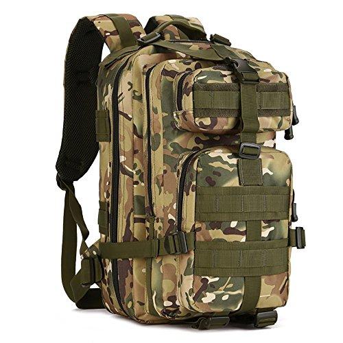 Military Tactical Assualt confezione Army marsupio zaino per escursionismo campeggio trekking caccia 30l spalle zaino, Brown CP Camouflage