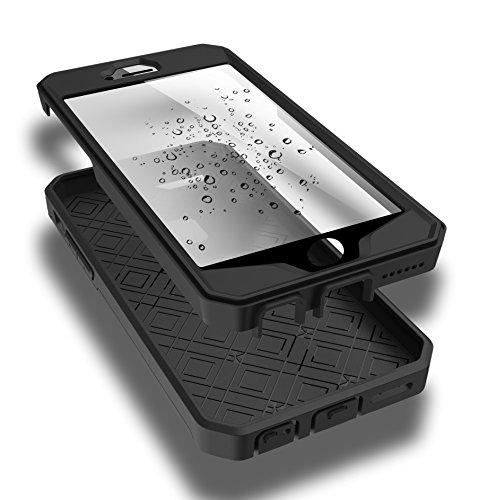 iPhone SE 5 5S Hülle,EVERGREENBUYING Wasserresistent mit integriertem Bildschirmschutz iP SE Tasche SchutzHülle mit Standhälter [Täglich Wasserdicht ] 3 Abdeckungen / Zubehör Case Cover für Apple iPho Gold