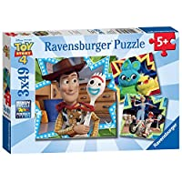 Ravensburger UK 8067 Ravensburger Disney Pixar Toy Story 4, 3X 49pc Jigsaw Puzzles, Multicoloured