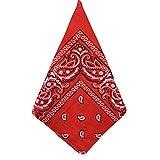VRTUR Damen schal Faux Seidenschal Seidentuch Blume Bandana Halstuch Kopftuch Schal 90 x 90 cm Bunte (Einheitsgröße,Rot)