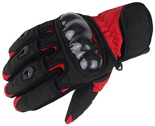 Bangla 5000 Motorradhandschuh Motorrad Sommer Handschuh Schwarz Rot XL (Atv-rote Handschuhe)