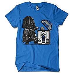 209-Camiseta Premium, Star Wars - Robotictrashcan (Donnie) (Azul Royal, S)