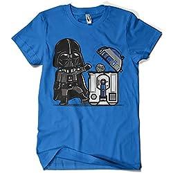 209-Camiseta Premium, Star Wars - Robotictrashcan (Donnie) (Azul Royal, L)