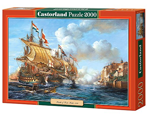 Castor 200245 - Battaglia navale di Porto Bello - Puzzle 2000 pezzi