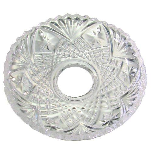 Chrom, Bleikristall (Lichtschale~ Bobeche Ø100mm Bleikristall 6 Seitenringe Chrom ~ Kronleuchter Lüster)