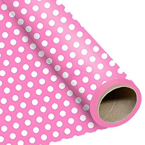 erdbeerloft - Dekoration Geburtstag Party Geschenkpapier Punkte, Rosa