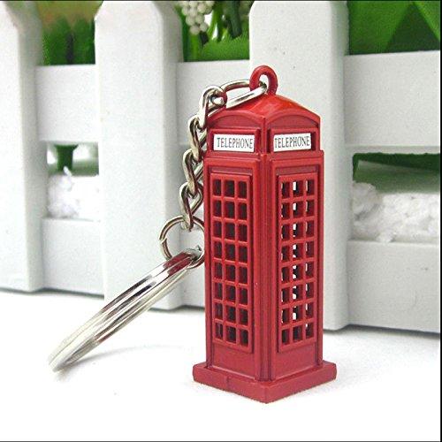ACAMPTAR Vintage Cabina telefonica britanica Miniatura