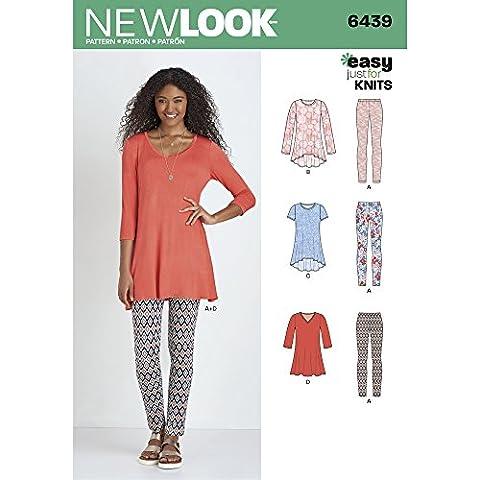 New Look-Cartamodello per cucire Leggings, XL, in maglia, motivo: fiori di carta