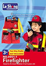 Fancydresswale Premium Community Helper Theme Costume for Fancy Dress competitions, Role Play and School Functions for Kids (Fire Fighter, 4-7 Years)