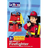 Fancydresswale Premium Community Helper Theme Costume For Fancy Dress Competitions, Role Play And School Functions For Kids (Fire Fighter, 3-8 Years)