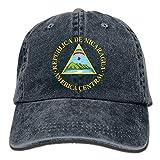 Sdltkhy Gorras de béisbol Ajustables Nicaragua Emblema Nacional Estilo Vaquero Gorra de Camionero...