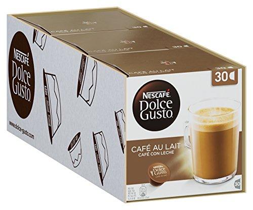 Nescafé Dolce Gusto Café au Lait, XXL-Vorratsbox, Kaffeekapseln, 100% Arabica Bohnen, leichter...