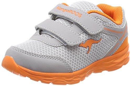 KangaROOS Unisex-Kinder Korro Sneaker, Grau (Vapor Grey/Orange Peel), 28 EU