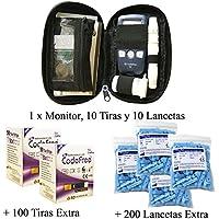 SD Codefree - Estuche que contiene Monitor de Glucosa, 10 Tiras y 10 Lancetas -
