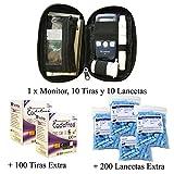 SD Codefree - Estuche que contiene Monitor de Glucosa, 10 Tiras y 10...