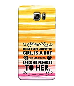 PrintVisa Designer Back Case Cover for Samsung Galaxy S6 Edge+ Plus (behind untrusted girl is a boy)